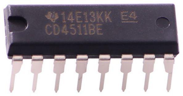Descodificador 7 segmentos 4511