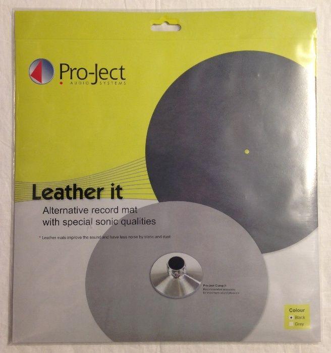 Turntable Mat din piele Pro-Ject Leather it negre, noi, sigilate
