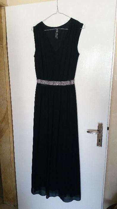 Черна дълга официална рокля