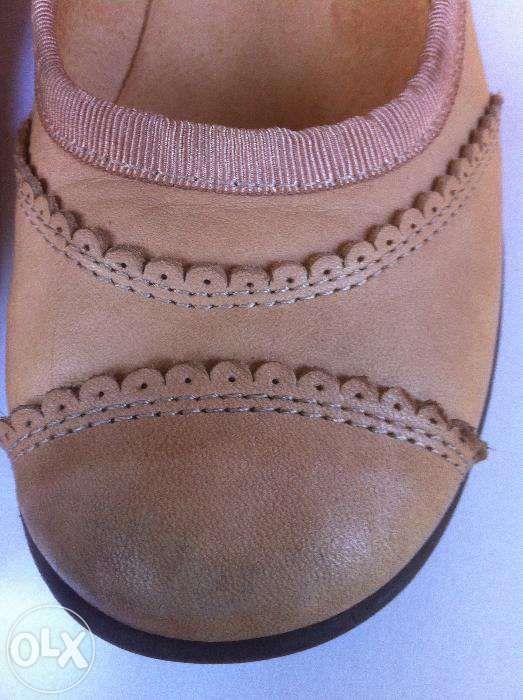 pantofi balerini din piele interior/exterior, nr.32, interior 20 cm