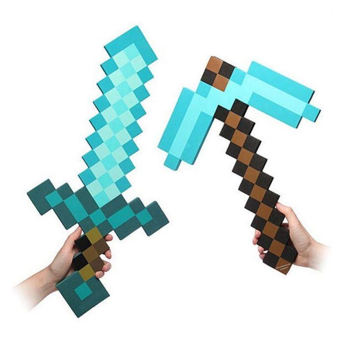 Майнкрафт Minecraft диамантен меч кирка,брадва 30лв играчка Маинкрафт