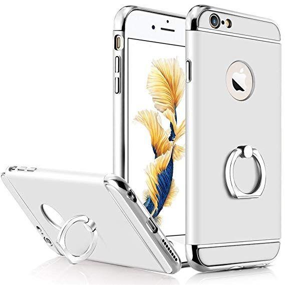 Husa Elegance Luxury 3in1 cu inel pentru Apple iPhone 8 Plus Argintie
