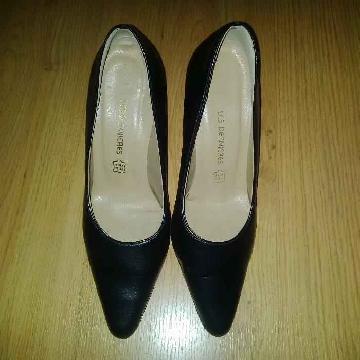Pantofi Les Dernieres piele naturala, toc 8 cm