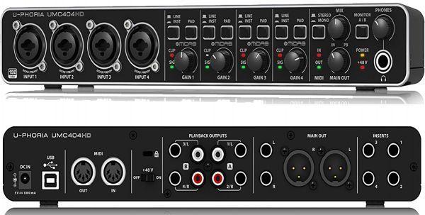 Audio Interface Behringer U-Phoria UMC404HD