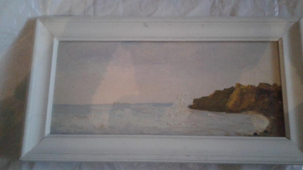 tablou pictat pe panza cu rama
