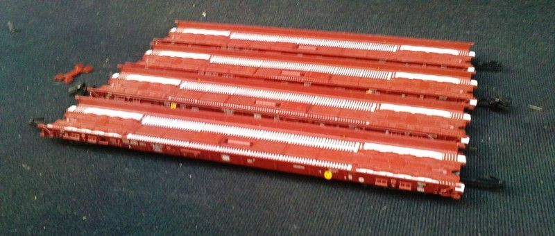 vagoane trenulet Marklin Hupac set vagoane platforma joasa 4743 DB