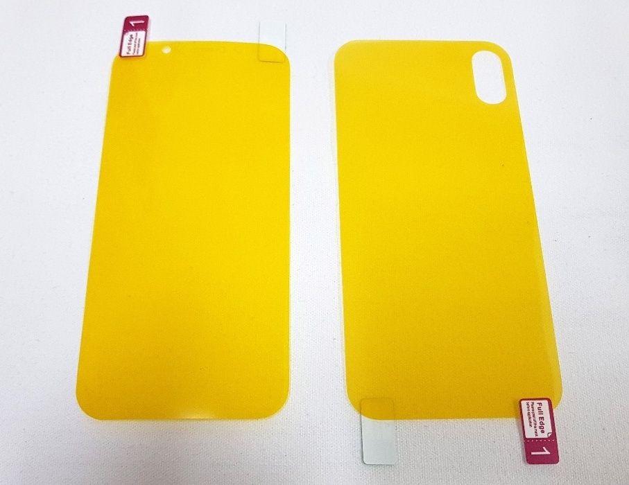Folie fata + spate iPhone X - clasica, nu sticla