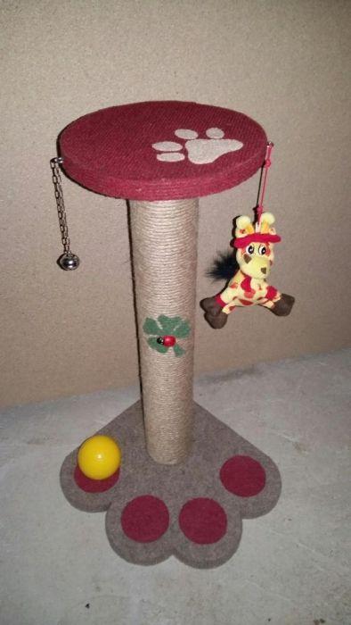 Sisal pentru zgariat(accesorizat cu jucarii pt pisici) Pitesti - imagine 4
