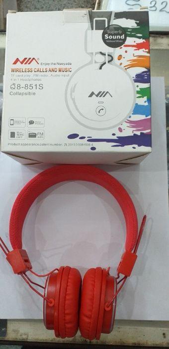 Aureculares Wireless Calls, FM radio, TF card play, Audio input
