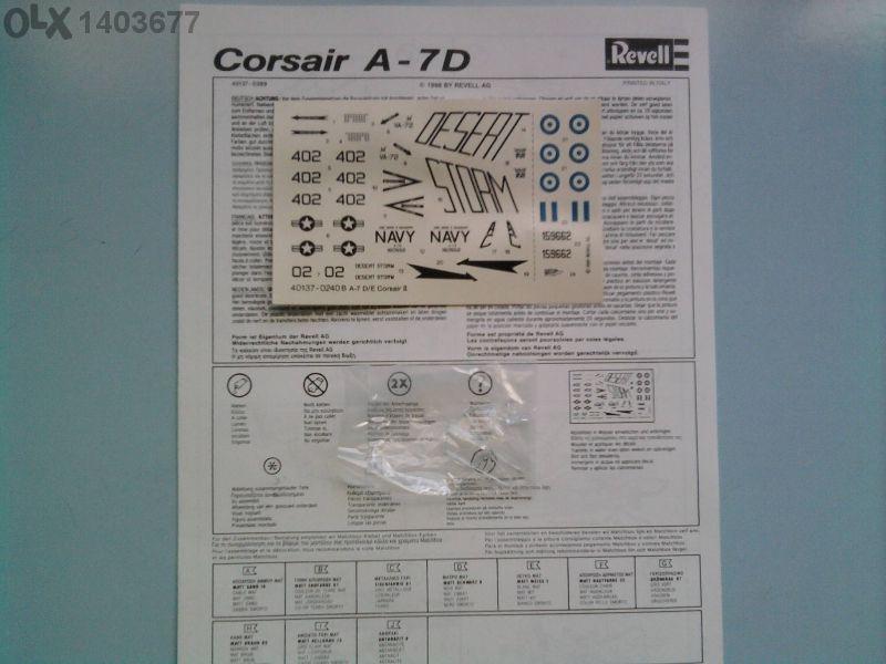 Модел на самолет a-7d corsair ll-revell 1/72