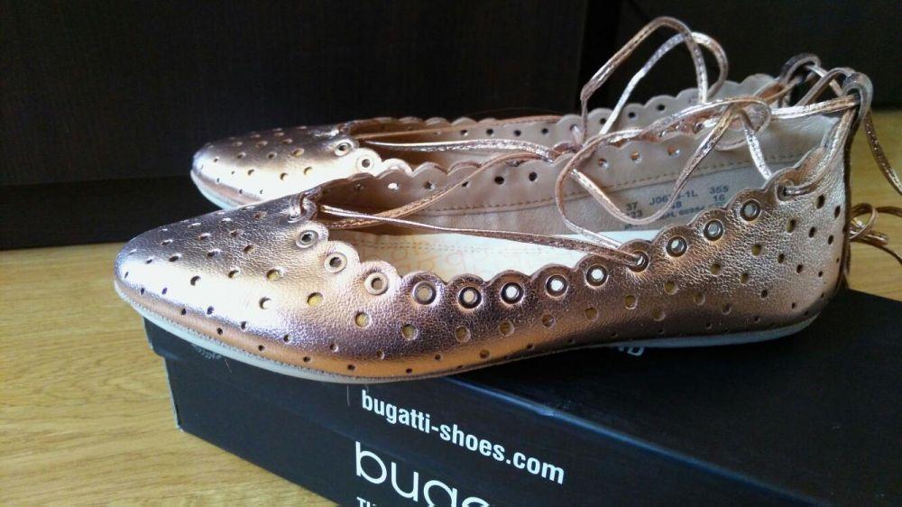 Нови Обувки Bugatti 37 номер естествена кожа