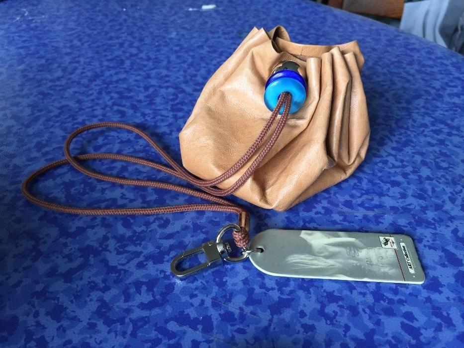 Нова , малка чанта с мъниста и Кожена кесийка