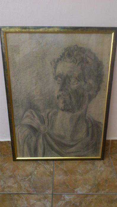 Cadou/tablou grafit/grecia antica/filozof/portret