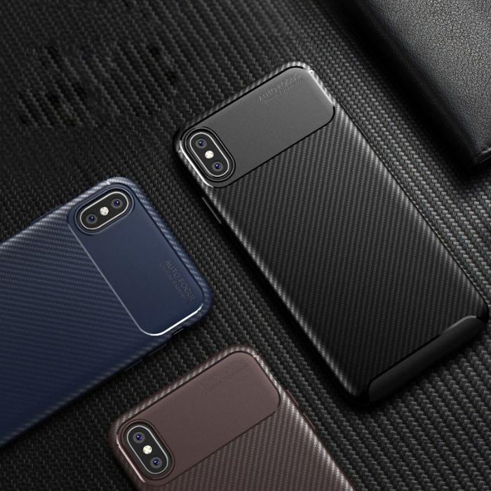 Husa Auto Focus Silicon 0.5mm Neagra, Black - Iphone X XS 10 XR XS MAX