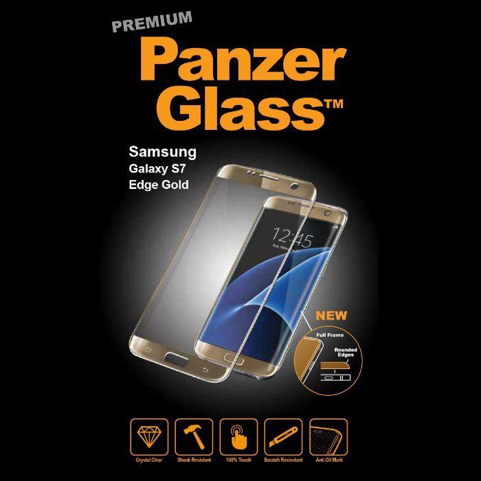 Folie sticla PREMIUM - Panzer Glass - S7 EDGE GOLD