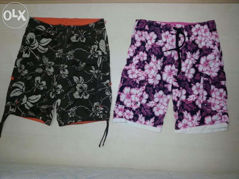 Мъжки Къси панталони 2 броя (бански, шорти)
