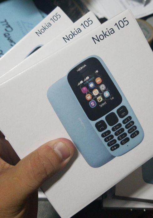 Nokia 105 1 cartão na caixa, com todos acessórios