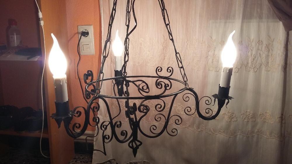 candelabru forja vechi