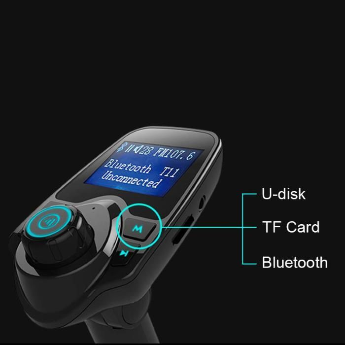 Bluetooth auto telefon Car kit modulator FM incarcare 2.1A usb