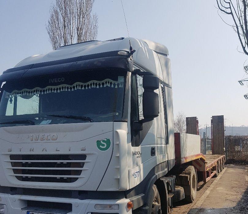 Transport cu trailere și platforme de la 10 tone pana la 60 tone
