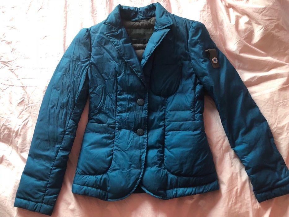 Италианско яке марка Piquadro, размер 44, синьо, с вътрешни джобове