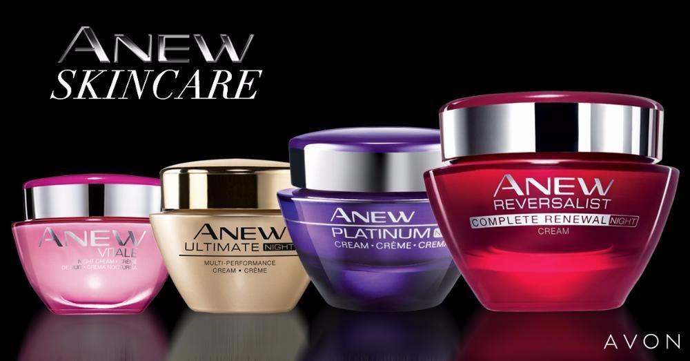 Кремове за лице и серуми Anew Avon-различни видове