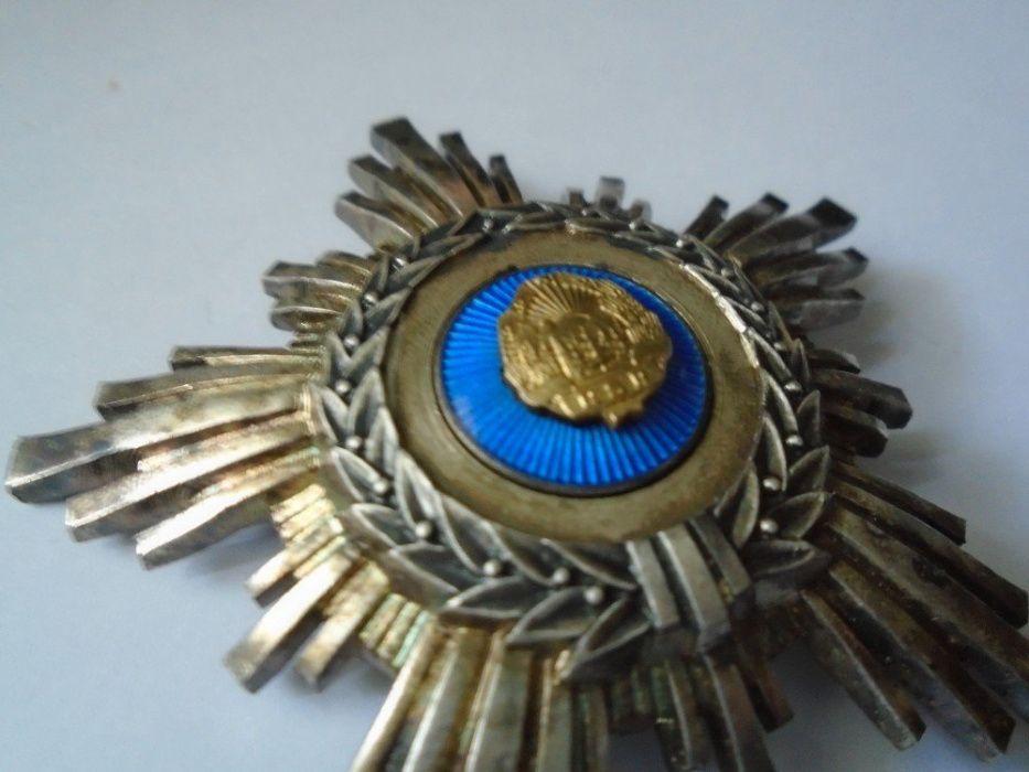 Ordinul Steaua RSR cls IV , argint , cutie, bareta Ploiesti - imagine 4