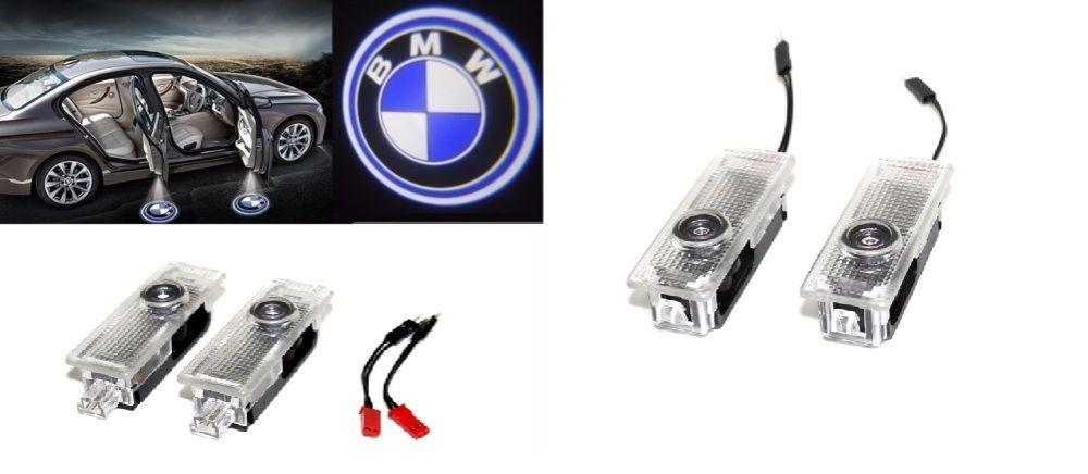 Set lampi dedicate cu logo BMW pentru portiere BMW E90 E60 F10 F15 E64