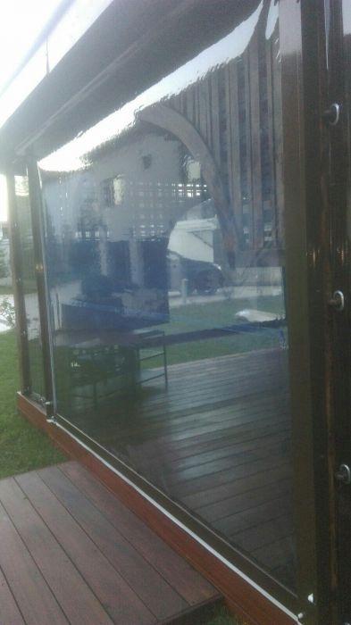 Folie pentru terase din plastic transparent