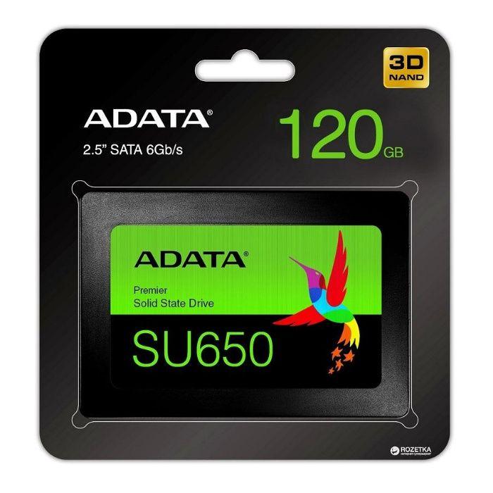 SSD 120GB ADATA SU650 SATA 6Gb/s - Нов твърд диск