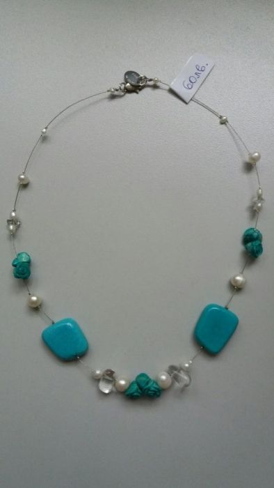Продавам авторски бижута от истински перли и камъни