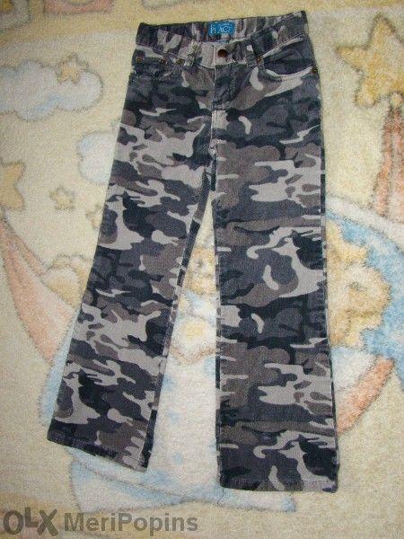 Джинсов панталон с маскировъчна шарка