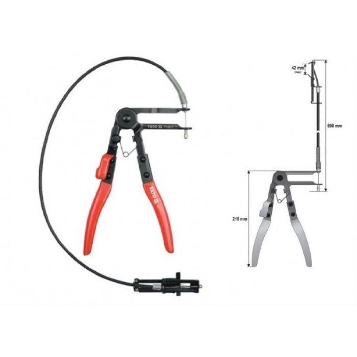 Cleste pentru Coliere Yato avand Furtun cu Cablu YT-0677