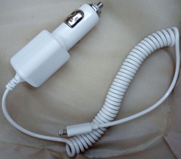 incarcator auto cu cablu iPhone 5, 5S, 6, 6S, 6S Plus