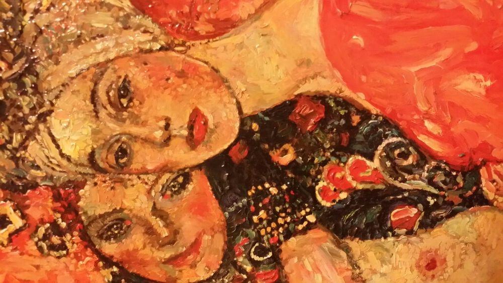 Tablou Pictura in ulei Reproducere dupa G.Klimt 30x40 cm cu rama