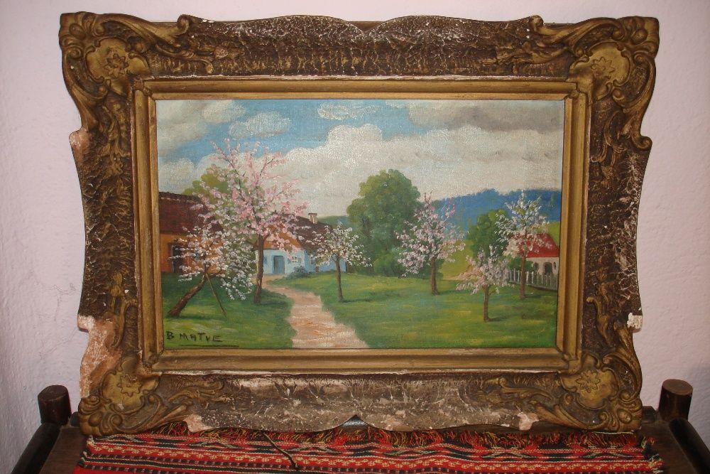 Tablou livada in floare pictura pe panza