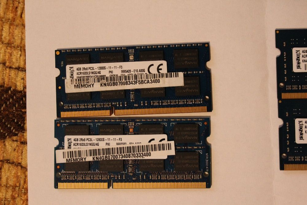 Vand rami DDR2 si DDR3 laptop