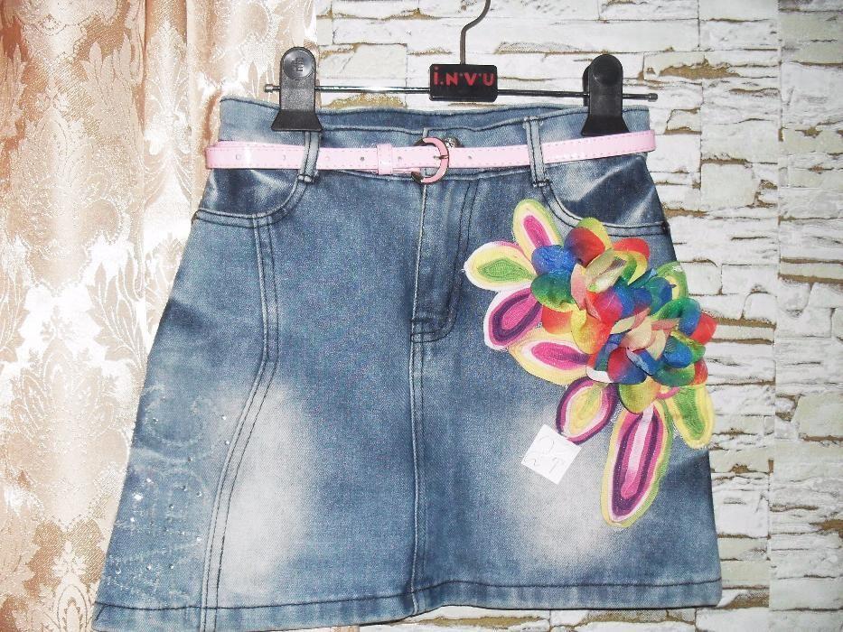 Юбка джинсовая на девочку 7 - 9 лет