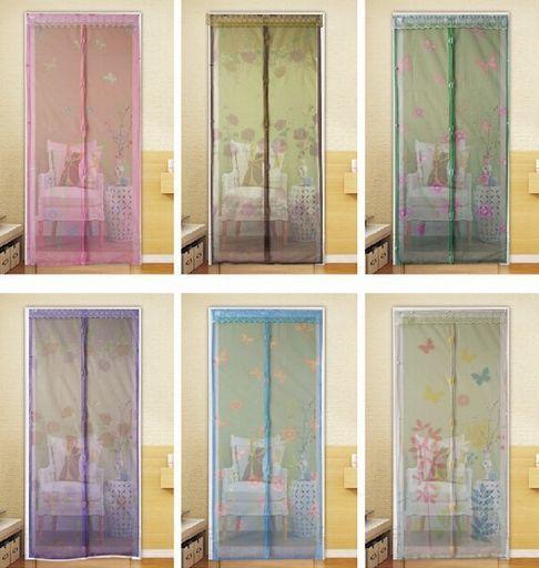 Plasa Perdea Usa Anti Insecte Inchidere Magnetica imprimeuri florale