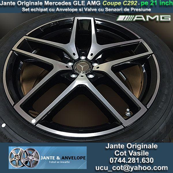 Jante Originale Mercedes GLE Coupe C292 AMG Bicolor pe 21 inch cu Anv