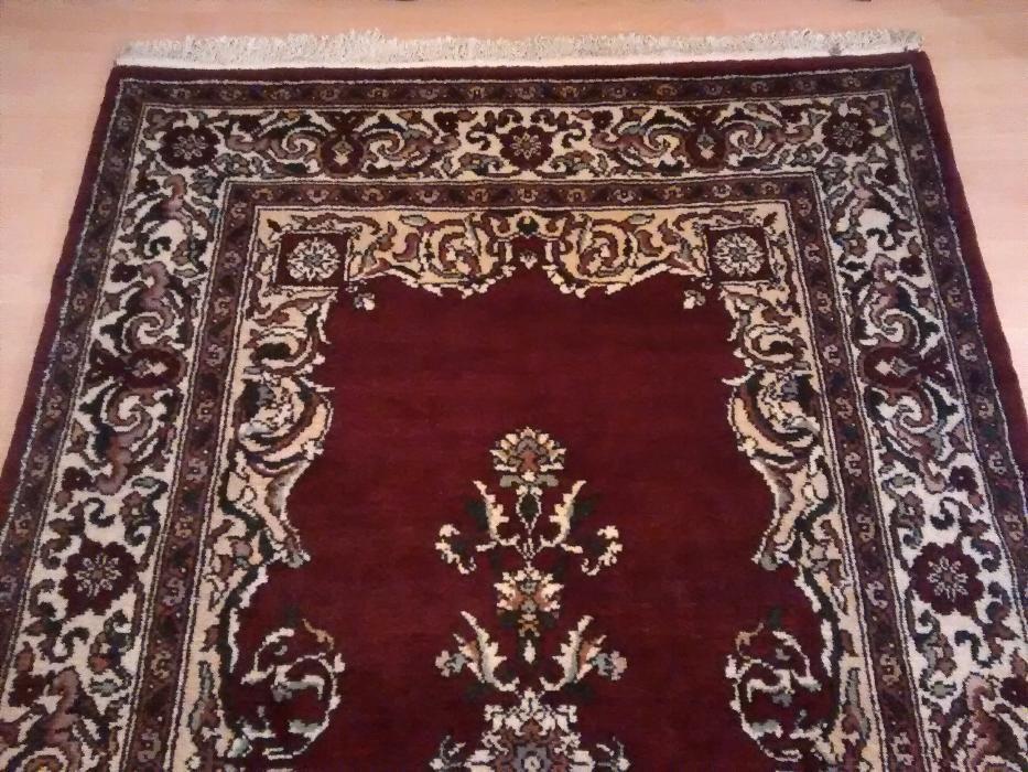 Covor persan manual din lana NOU 300x 170 cm (romanesc, fabricat 1983)