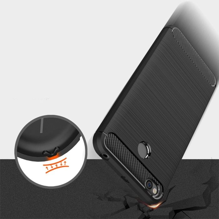 ТОП RUGGED ARMOR Силиконов Кейс с карбон за SAMSUNG S9,S8,J3,A6,J5,J7