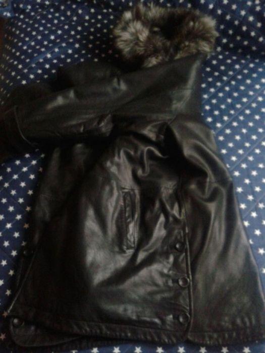 Само до 29.1-Естествена кожа и лисица чудесно марково яке