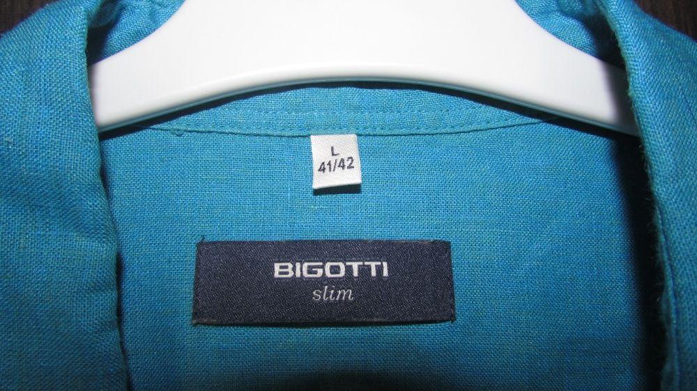 Camasa albastra slim din in Bigotti, masura L 41/42