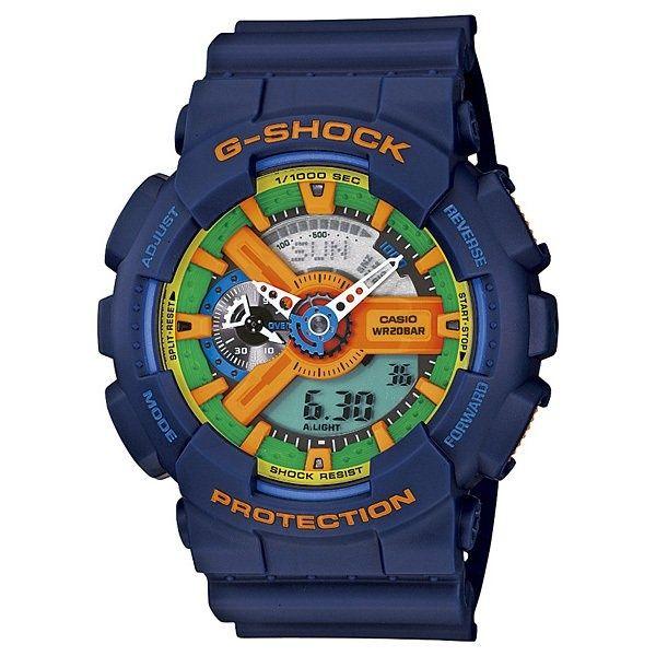 Ceas Sport CASIO G SHOCK GA110FC-2A Blue Resin, Nou,Autentic 100%