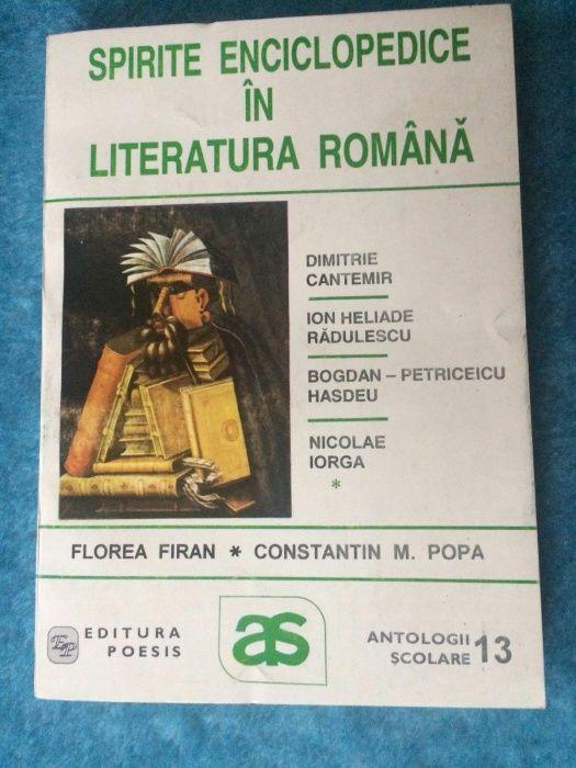 Spirite enciclopedice in literatura romana, 3 vol.