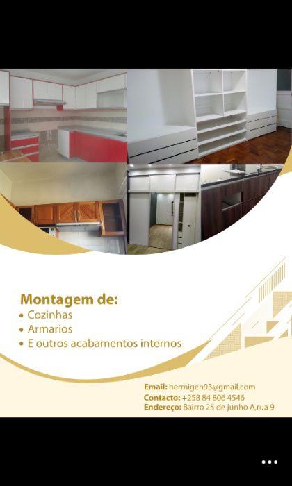 montagem de cozinhas e acabamentos internos