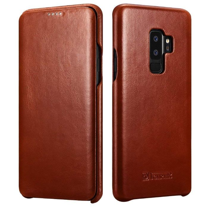 Husa lux piele naturala vintage iCARER, SAMSUNG GALAXY S9 PLUS