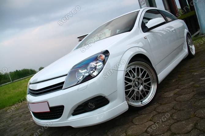 Prelungire spoiler bara fata Opel Astra H GTC Twin Top TwinTop Opc