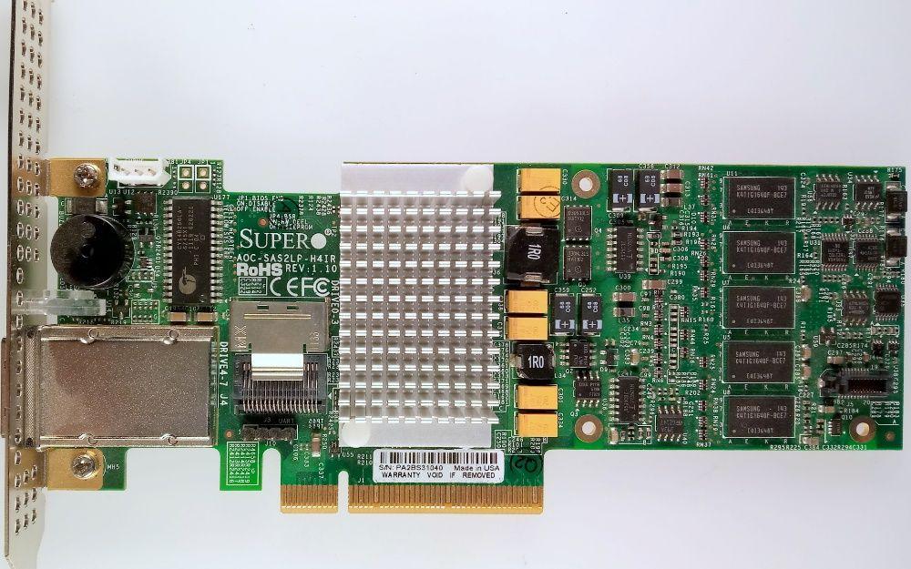 RAID 5,6 SuperMicro AOC-SAS2LP-H4iR (4i/4e) 512MB Mega SATA/SAS 6Gb